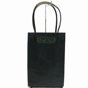 Chanel Black Leather Wine Carrier Tote Case 871867